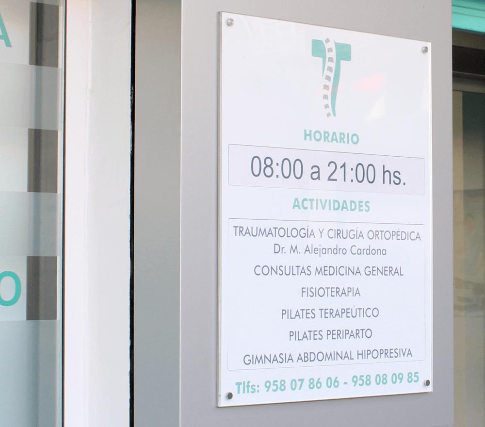 Horario Centro de Traumatología Granada