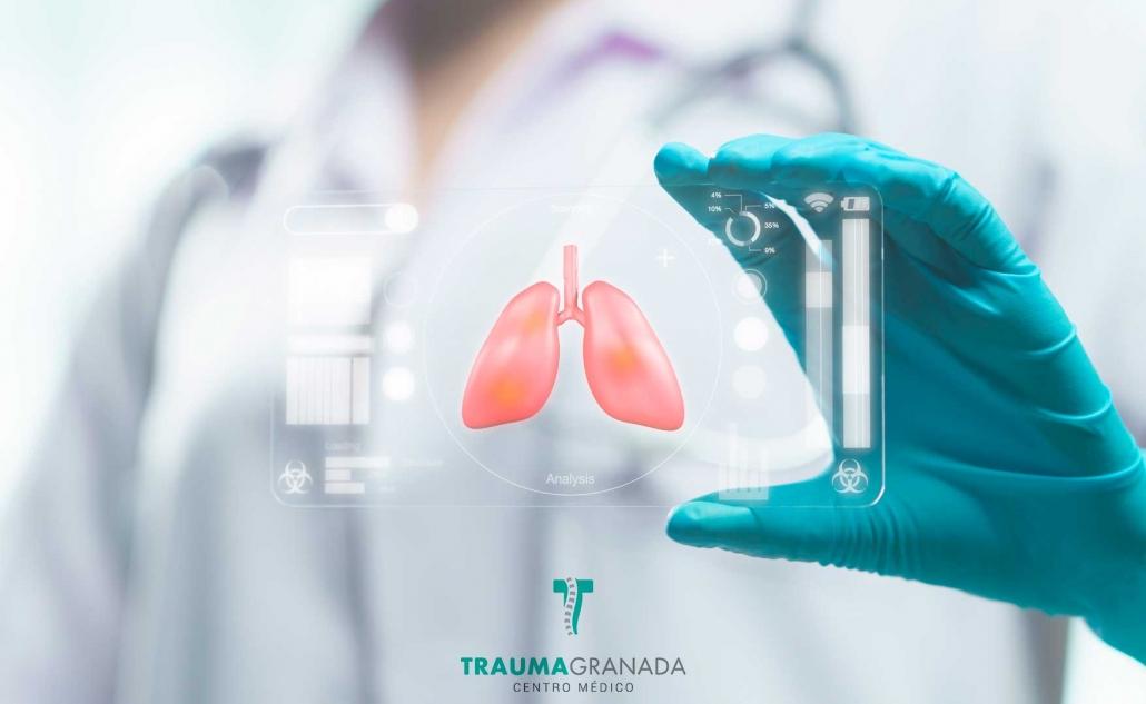 Imagen de pulmones para ilustrar la fisioterapia respiratoria en Granada